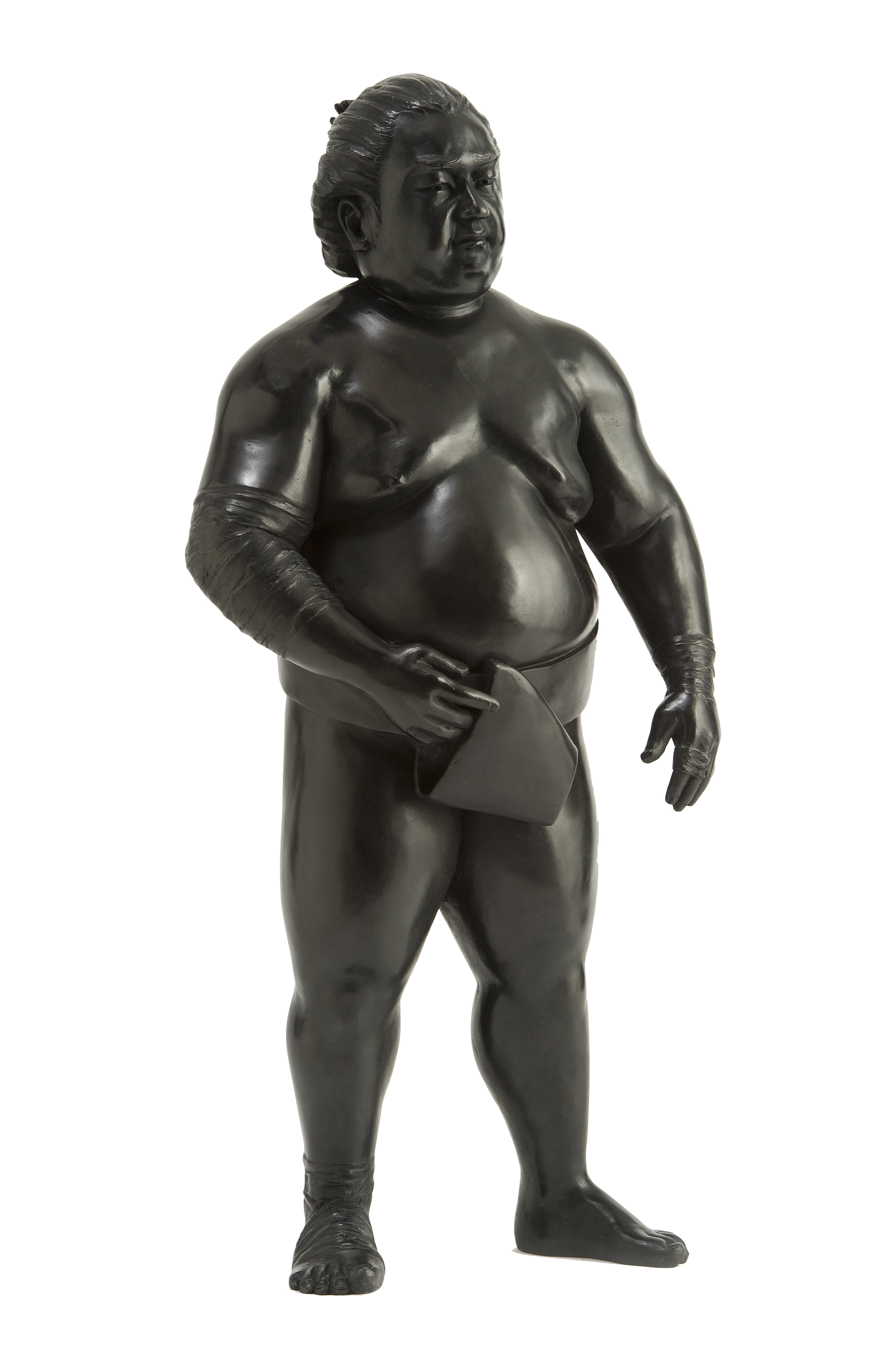 Bronze sumo sculpture for inside by Alexandra Gestin for sale price on request