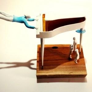 Unique pinao sculpture by Kazuhiko Tanaka Range of Arts