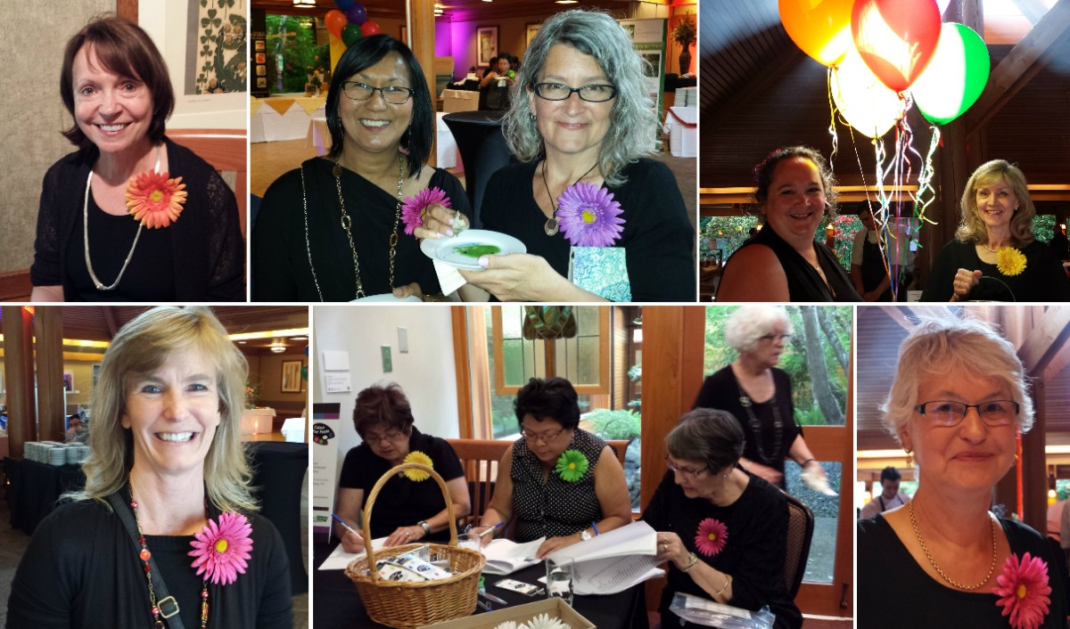 A collage of photos of Colour Your Palate volunteers.