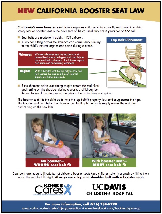 California Booster Seat Requirements 2017