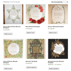 Ketubah website shop page design