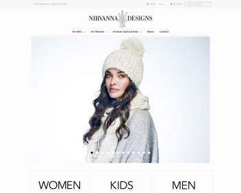 Nirvanna Designs eCommerce shop - retail winter hat store NYC