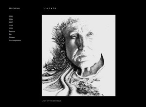 fine art -black and white drawings theme - website design