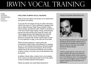 music - vocal training coach website