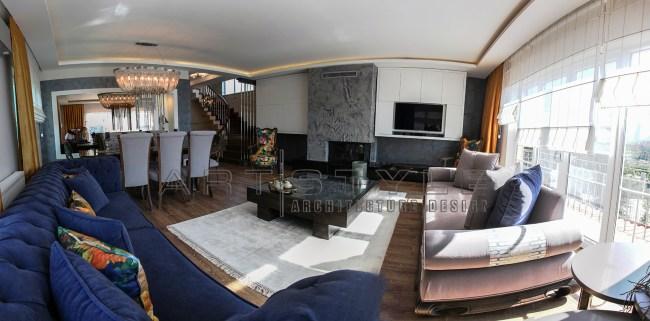 Villa dekorasyonları, villa dekorasyon örnekleri, villa Salon