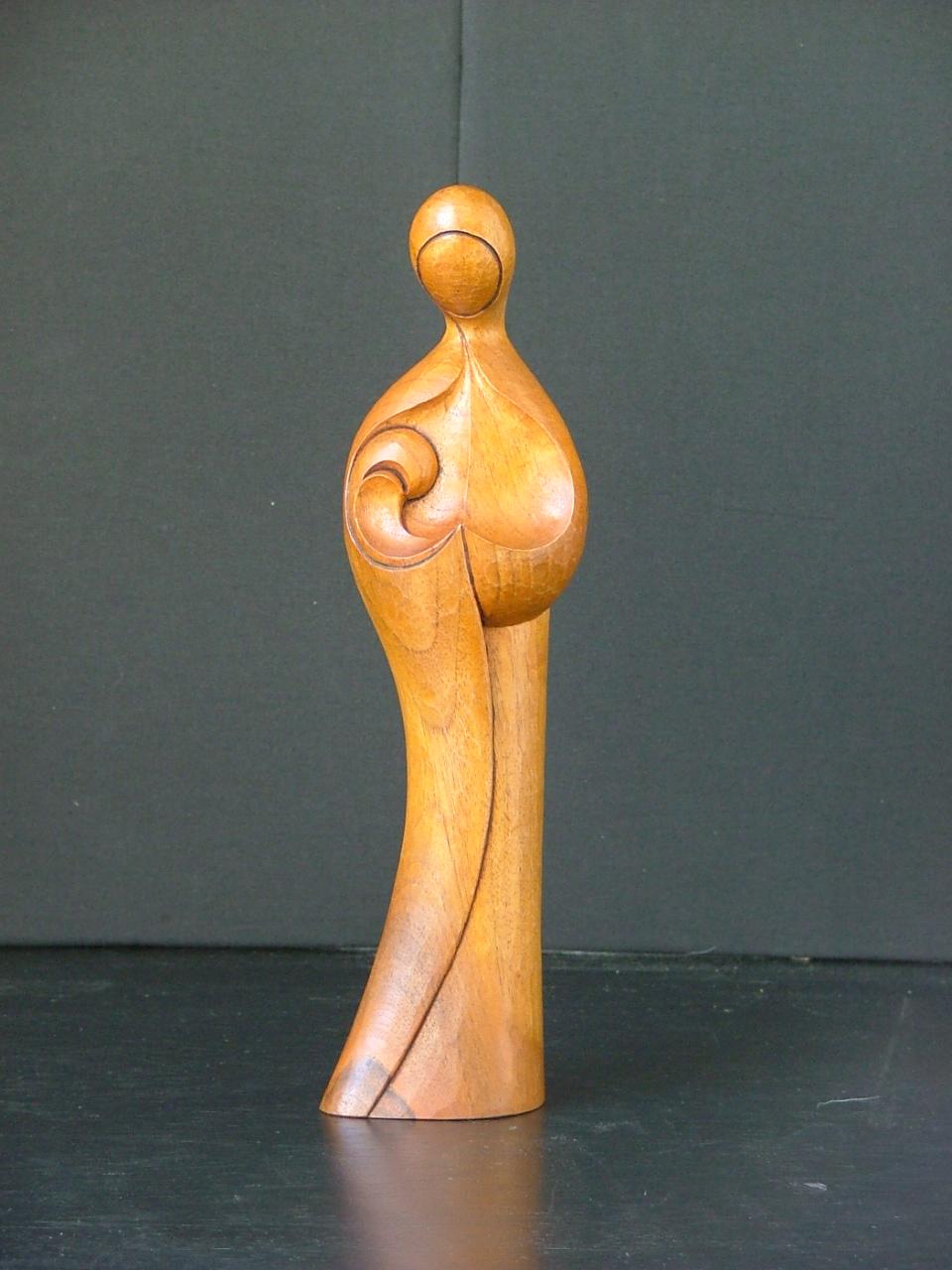 Sculpture contemporaine : La vierge à l'enfant