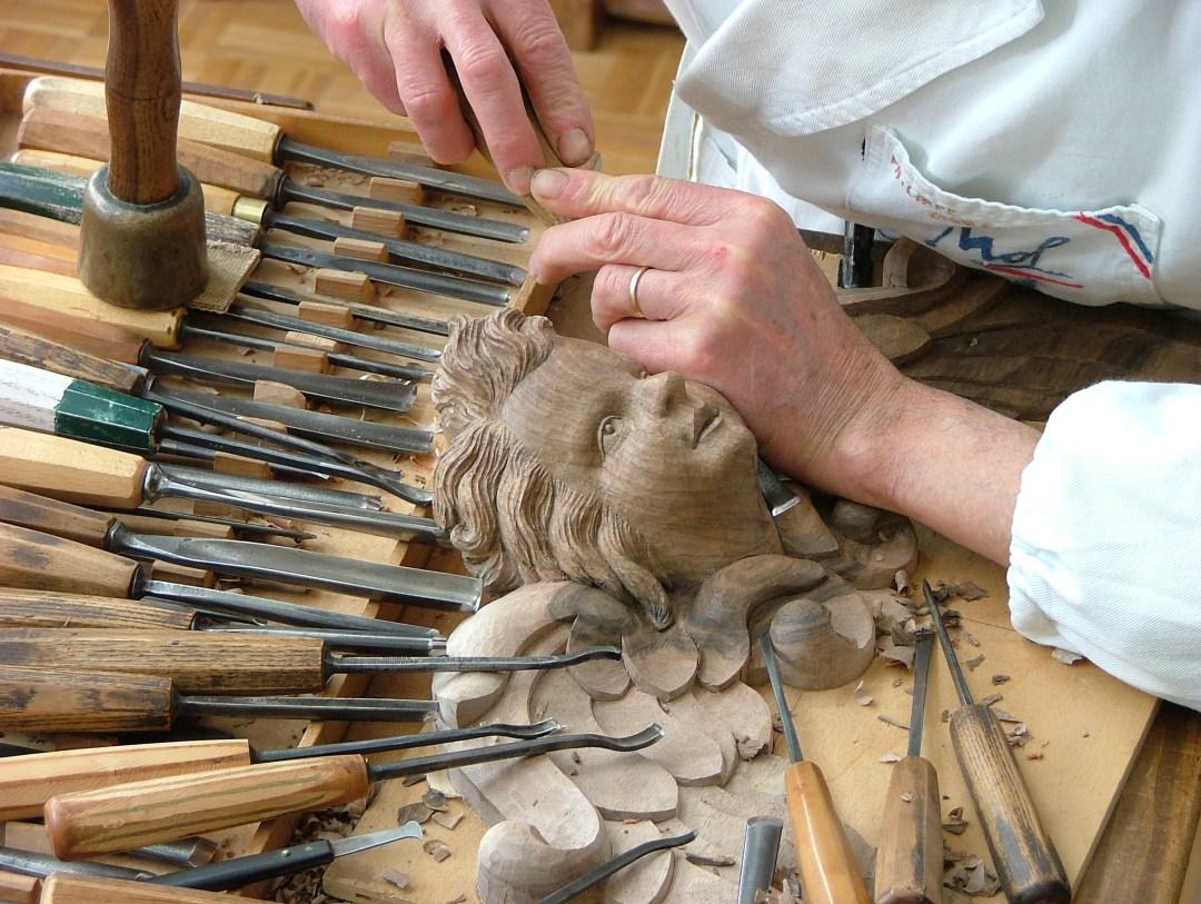 Outils de sculpture sur bois de Philippe Gilbert