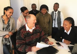 SA Cultural Observatory interns and researchers with CEO, Prof. Richard Haines.