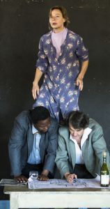 Jennifer Steyn, Mncedisi Shabangu and Andrew Buckland in Lara Foot's The Inconvenience of Wings. Pic by Oscar O'Ryan.