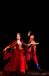 Sydney Anderson and Mikhail Nikitine as the Prince of Courland and his daughter Bathilde