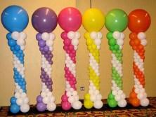 Angelic spiral balloon columns