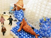 Winter balloon landscape. Letting people experience winter in a different way.