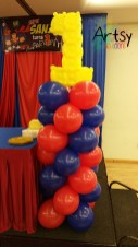 balloon columns with number 1