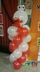 Baymax and Elmo on balloon columns