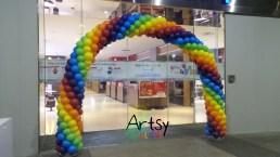 advance 6 colour spiral balloon rainbow arch decoration