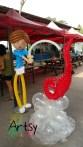 Balloon boy prawing display decoration singapore
