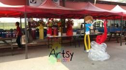 Balloon boy prawing display decoration