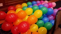 rainbow balloon decorations