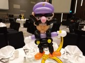 Wario Balloon sculpture Table Centerpiece