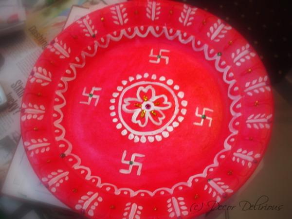 DIY-Thermocol-puja-plate