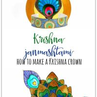 Krishna Janmashtami - how to make a Krishna crown