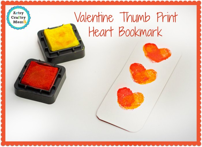 Valentine Thumb Print Heart Bookmark