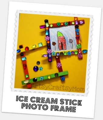 Ice cream stick magnetic photo frame - Gifts kids can make