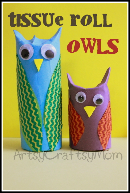 Tissue Roll Owl Craft