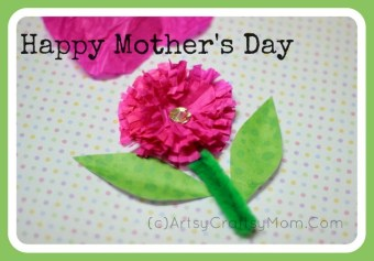 Mother's Day Craft – Crepe paper flower