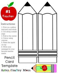 pencil-shape-card