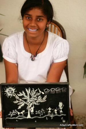 How to make a Warli Art Handpainted Tray