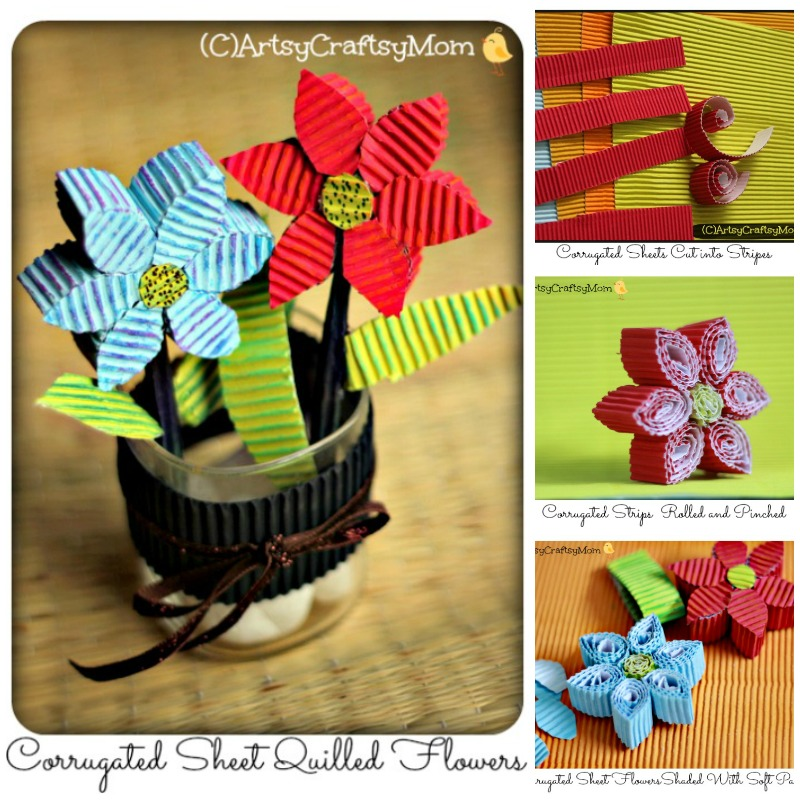 3d corrugated paper quilling flowers video tutorial artsy learn how to make these 3d corrugated sheet quilled flowers corrugated cardboard adds a lovely mightylinksfo