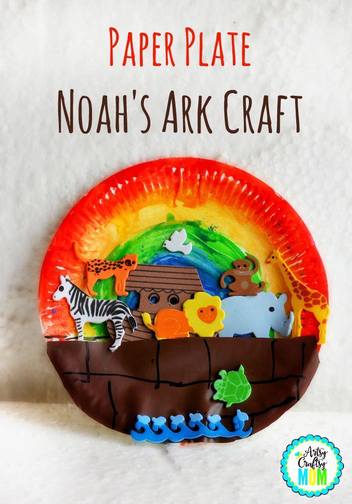 Paper Plate Noah's Ark Craft - Bible activities - Artsy ...