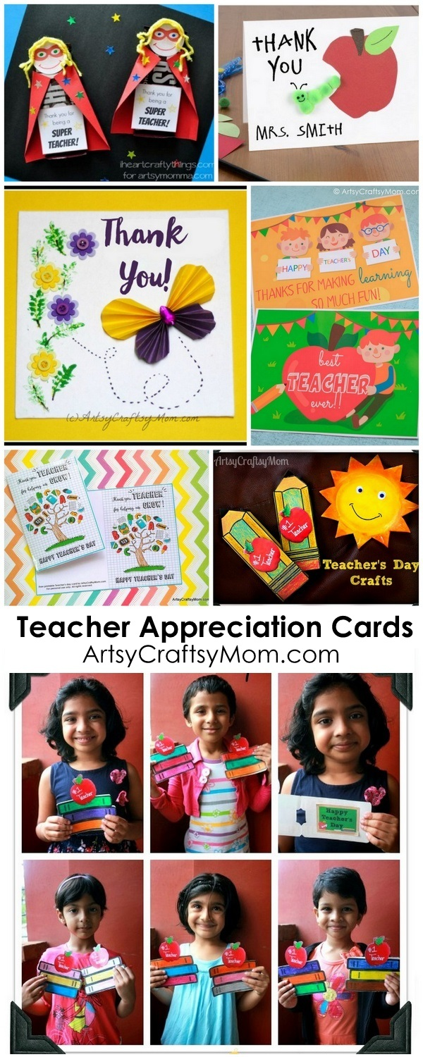 thank you teacher craft ideas 20 awesome teachers day card ideas with free printables 7229