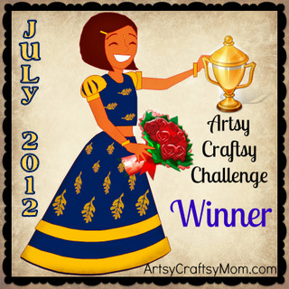 Artsy-Craftsy-July Winner & some changes