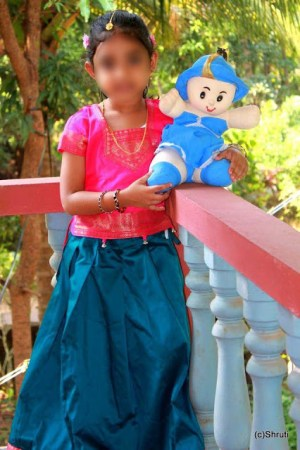 Traditional day at school – South Indian Girl