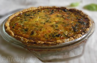 wholewheat eggless Vegetable Quiche
