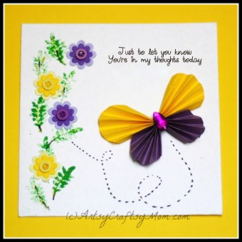 Accordion Fold Paper Butterfly Card