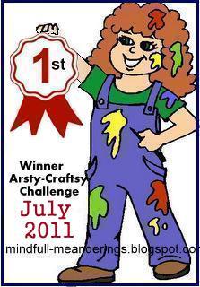 Artsy-Craftsy July & Sept Winners