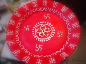 Ganesh Chaturti DIY aarti plate
