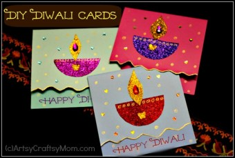 DIY Diwali Card idea for kids