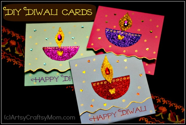 diwali craft ideas for children diy diwali card idea for artsy craftsy 6447