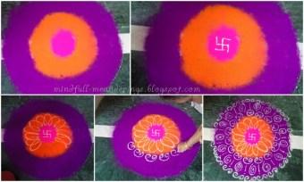 Diwali rangoli - step by step