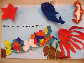 Aquatic theme craft from school