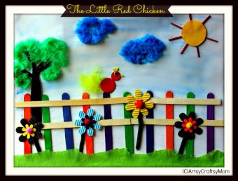 Little Red Hen Collage – Wall art