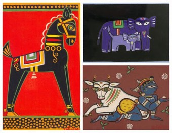 Jamini Roy Coloring pages