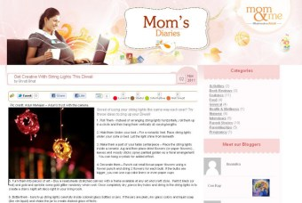 Article in Mom n Me