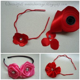 handmade satin hairbands for girls