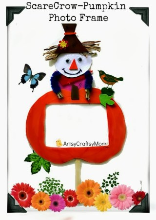 How to make a Scarecrow Photo Frame