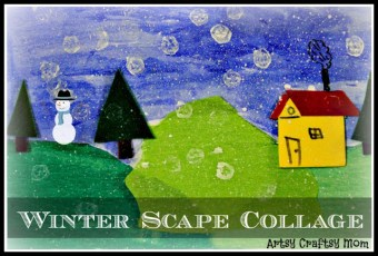 Winter Scape Collage – Craft Class